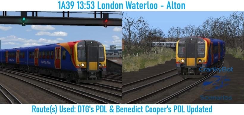 [CB] 1A39 13:53 London Waterloo – Alton