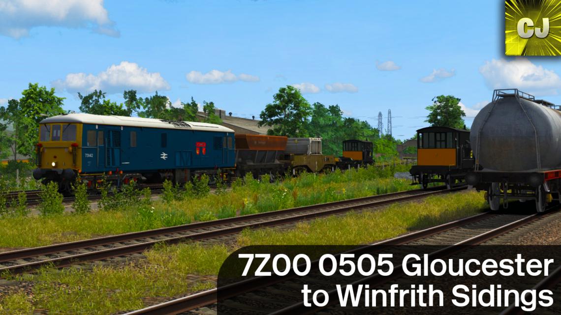 7Z00 0505 Gloucester to Winfrith Sidings