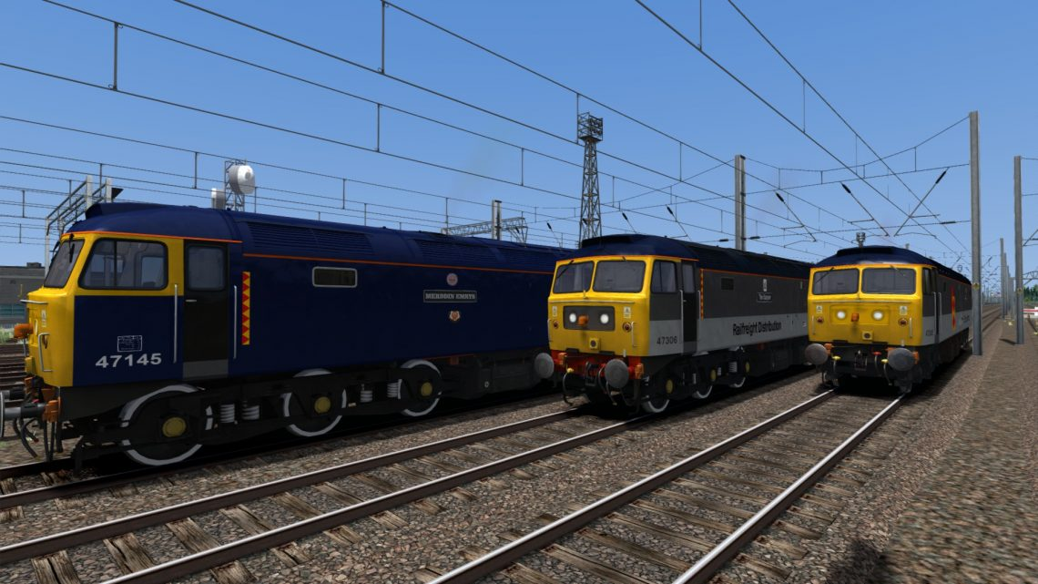 Backdated Trainsim Railfreight Distribution Class 47 Pack Sound Patch