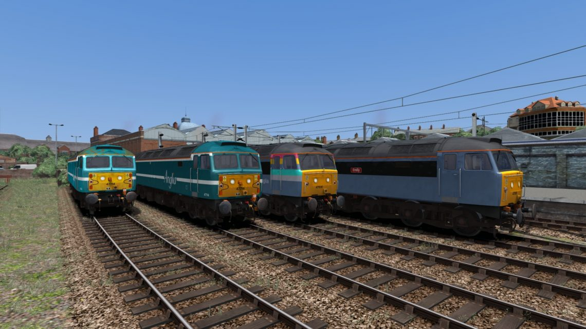 Backdated Trainsim Anglia Railways 47714 and ONE 47818 Pack Sound Patch