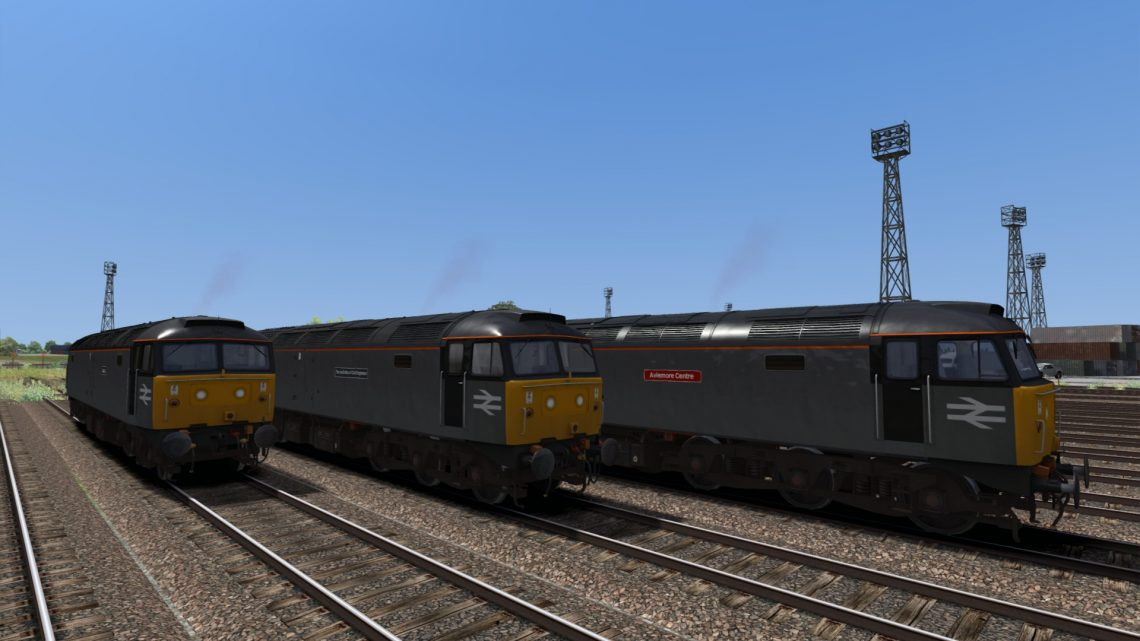 Backdated Trainsim BR Departmental Grey Class 47 Pack Sound Patch