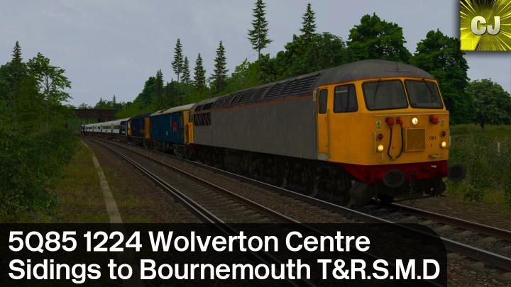 5Q85 1224 Wolverton Centre Sidings to Bournemouth T&R.S.M.D