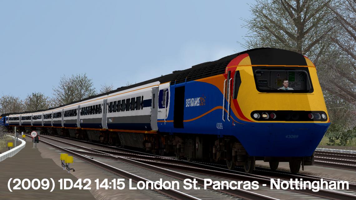 (2009) 1D42 14:15 London St. Pancras – Nottingham