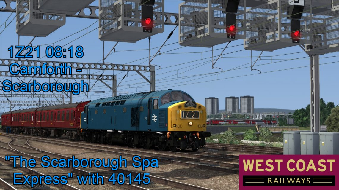 """[CH] """"The Scarborough Spa Express"""" 1Z21 08:18 Carnforth – Scarborough (24/08/2017)"""