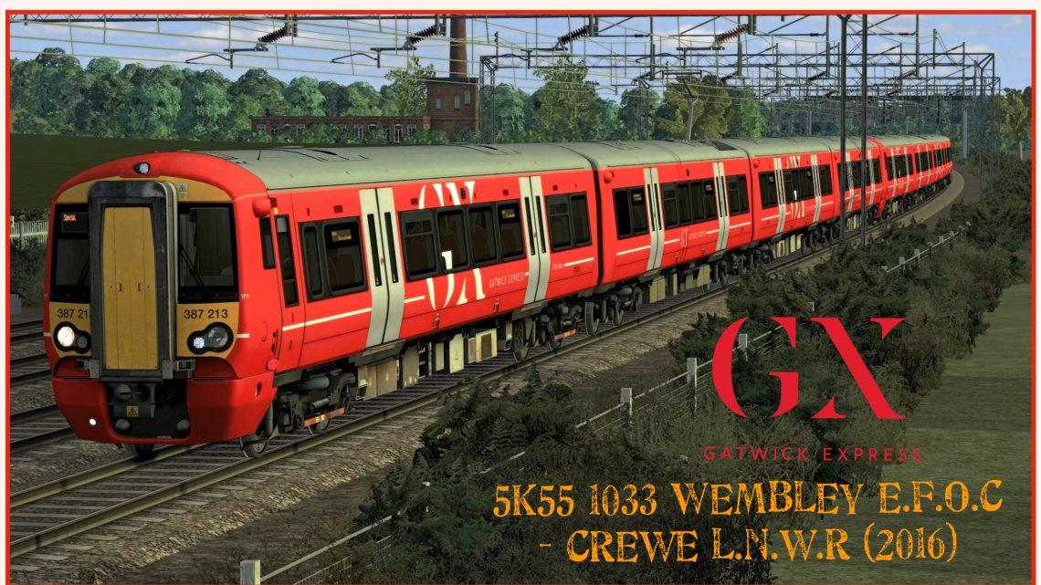 [RS] 387213/387215 – 5K55 1033 Wembley EFOC – Crewe LNWR (2016)