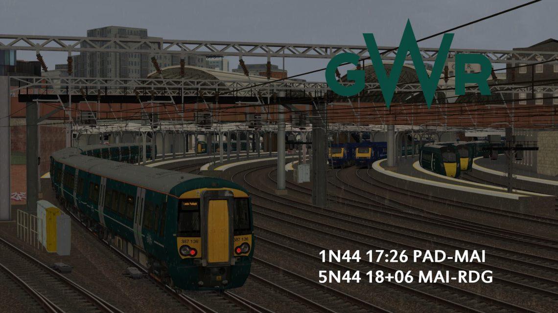 1N44 17:26 London Paddington-Maidenhead / 5N44 18+06 Maidenhead-Reading Depot
