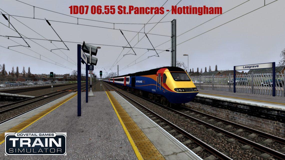 1D07 06.55 St.Pancras – Nottingham (MML) AP HST
