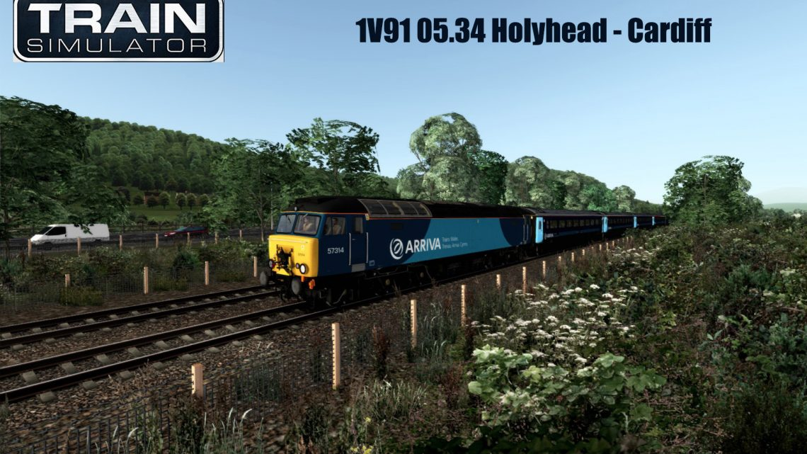 1V91 05.34 Holyhead to Cardiff Class 57 (NWC Branded Version)