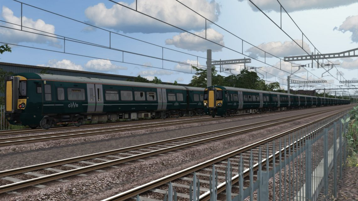 (RP) 5R75 07:52 Paddington-Reading Traincare Depot. GWR Class 387. (Updated to use Class 377/379/387 Enhancement Pack)