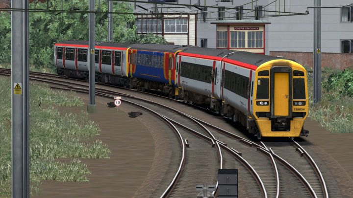 1K17 1054 Chester to Crewe