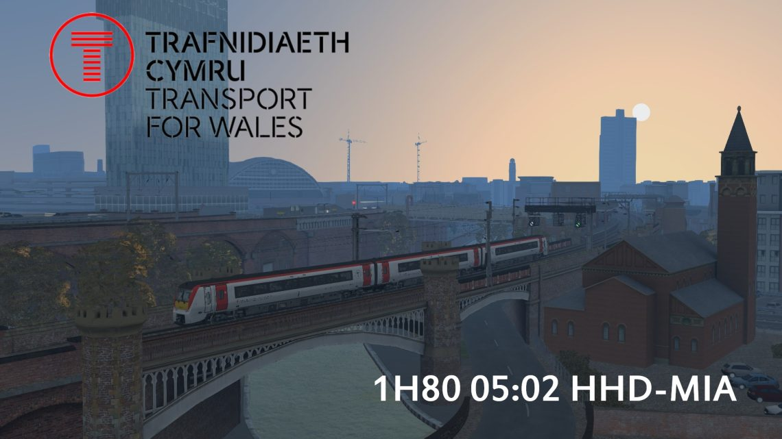 1H80 05:02 Holyhead-Manchester Airport