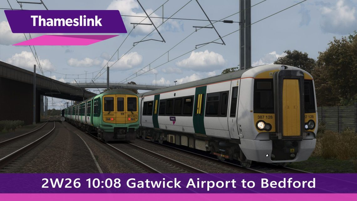 2W26 10:08 Gatwick Airport to Bedford (2016)