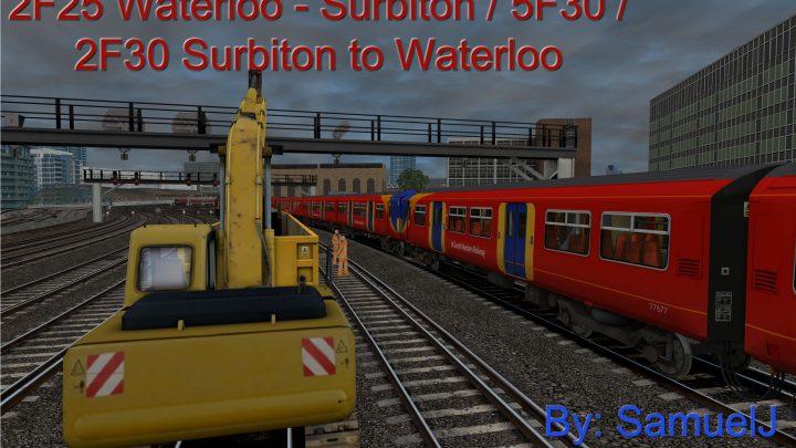 2F25 Waterloo – Surbiton / 5F30 / 2F30 Surbiton to Waterloo