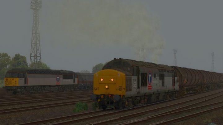 6B94 08:30 Margam Knuckle Yard to Cardiff Canton [Class 37] (1997)