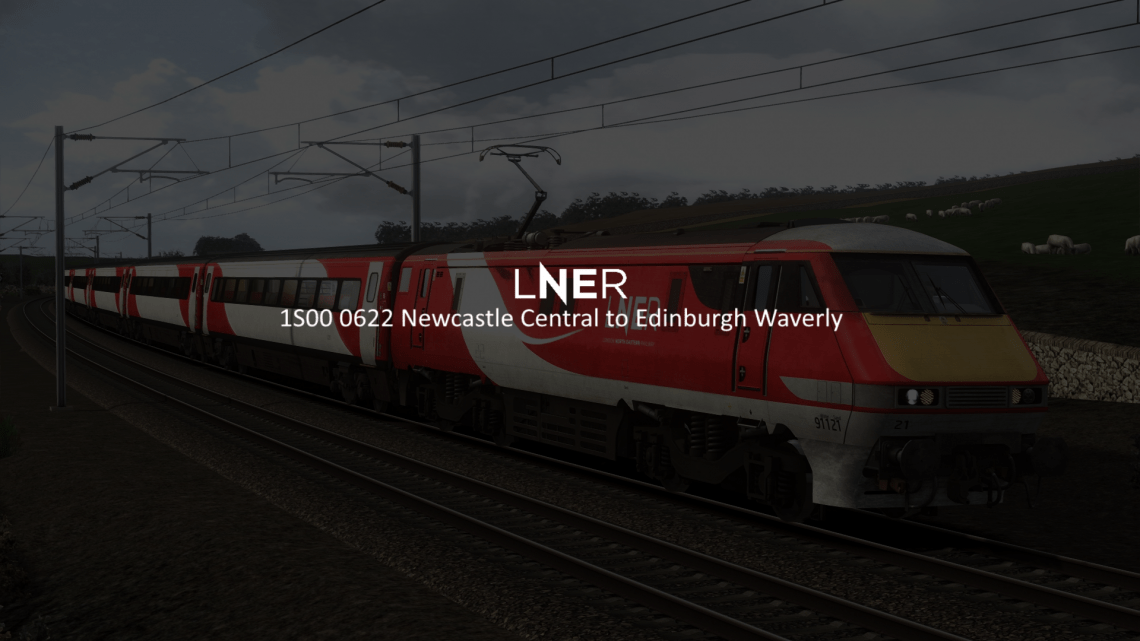 1S00 Newcastle Central to Edinburgh Waverley [Subscription Only]